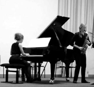Maxime Snaterse piano, Deborah Witteveen saxofoon, Waterstaatskerk Hengelo, 20 mei 2016